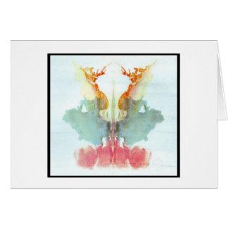 Mancha de tinta 9,0 de Rorschach Tarjeta De Felicitación