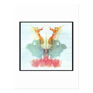 Mancha de tinta 9,0 de Rorschach Tarjeta Postal