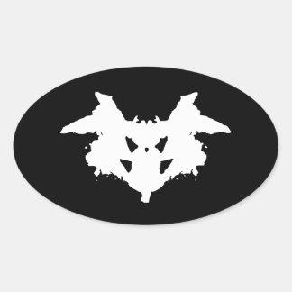 Mancha de tinta de Rorschach Pegatina Ovalada