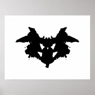 Mancha de tinta de Rorschach Póster
