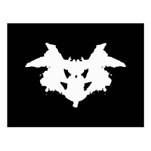 Mancha de tinta de Rorschach Tarjeta Postal