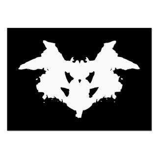 Mancha de tinta de Rorschach Tarjetas De Visita Grandes