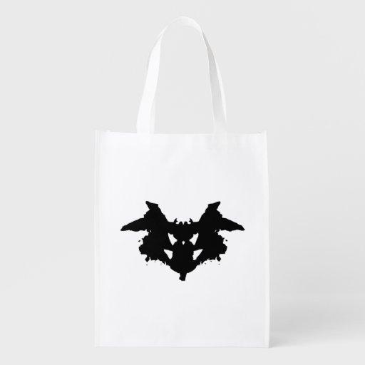 Mancha de tinta de Rorschach Bolsas Reutilizables