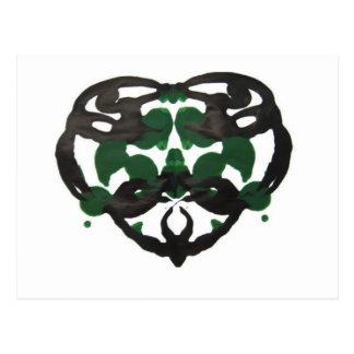 Mancha de tinta verde céltica postal