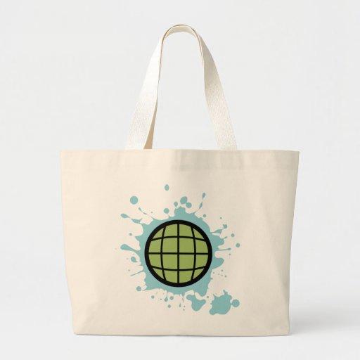 Mancha del globo bolsa tela grande