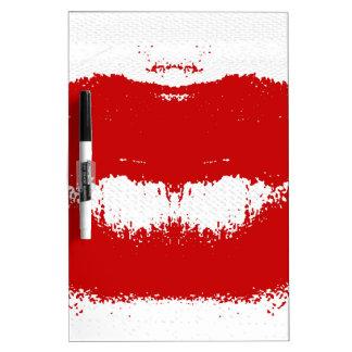 Mancha del lápiz labial en tejido pizarras blancas de calidad