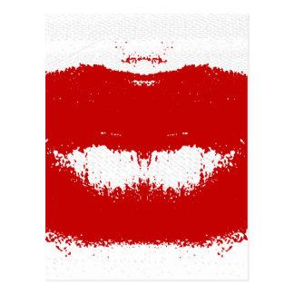 Mancha del lápiz labial en tejido postales