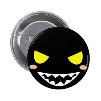 Mancha la cabeza negra del fantasma pin redondo 5 cm