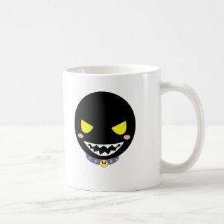 Mancha la cabeza negra del fantasma taza