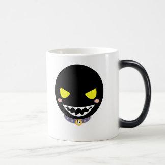 Mancha la cabeza negra del fantasma tazas de café