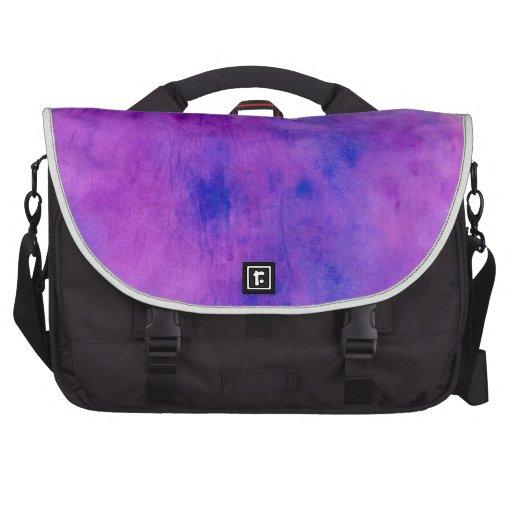 Mancha púrpura de la acuarela bolsas para ordenador