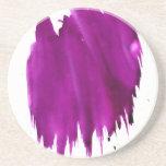 Mancha púrpura posavasos cerveza