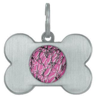 Mancha rosada placa de mascota