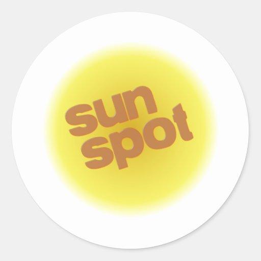 mancha solar pegatina redonda