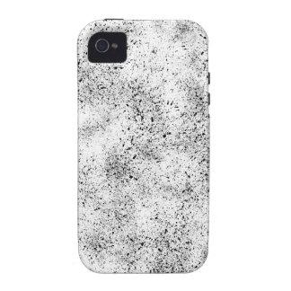 Manchado blanco y negro iPhone 4/4S funda