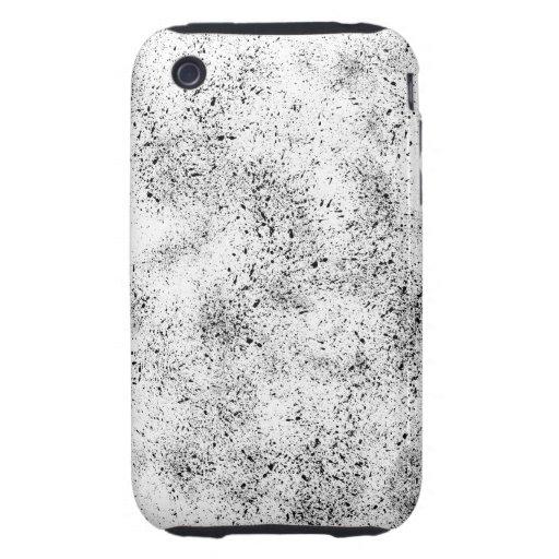 Manchado blanco y negro iPhone 3 tough cárcasa