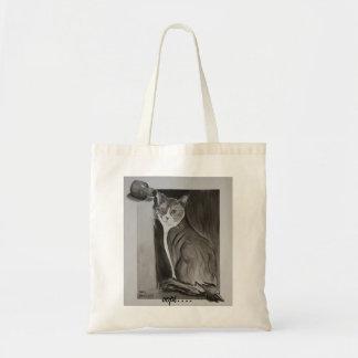 Manchado de tinta el gato bolsa