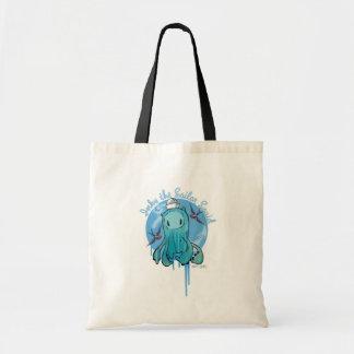 Manchado de tinta el tote del calamar del marinero bolsas de mano