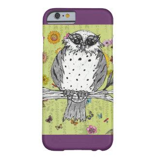 Manchado el caso del iPhone 6 del búho 5 Funda De iPhone 6 Barely There
