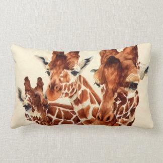 Manchado - jirafas cojín lumbar