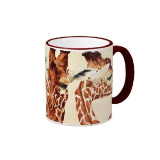Manchado - jirafas taza de dos colores