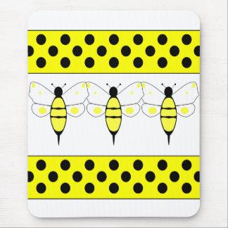 Manchado manosee la abeja Mousepad Alfombrilla De Raton