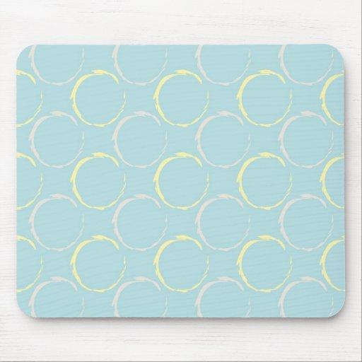 Manchas azules y amarillas del café, modelo de los tapete de raton