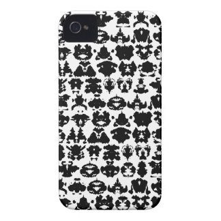 Manchas blancas negras de la tinta Case-Mate iPhone 4 protector