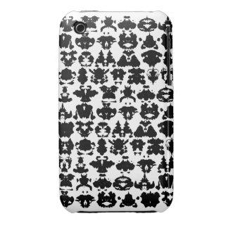 manchas blancas /negras de la tinta iPhone 3 Case-Mate cárcasas
