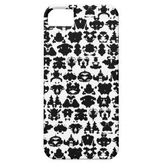 manchas blancas /negras de la tinta iPhone 5 funda