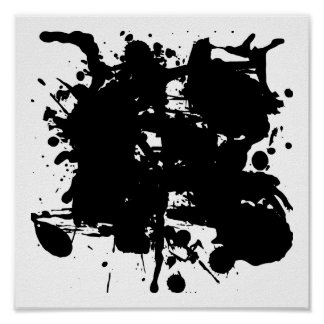 Manchas blancas /negras del negro impresiones