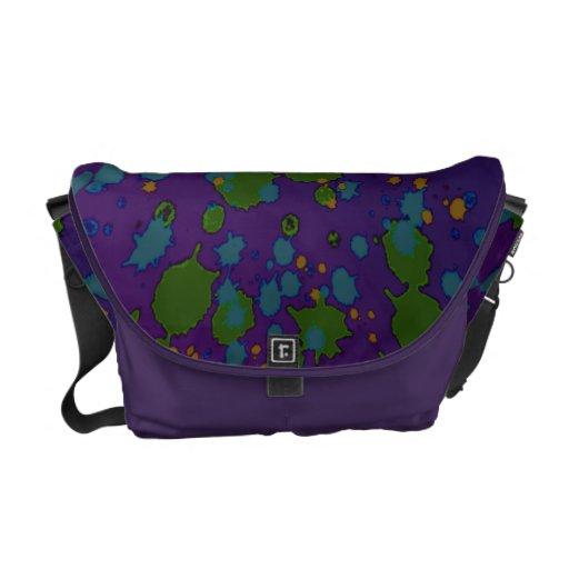 Manchas coloridas bolsas de mensajeria