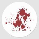 manchas de sangre del horror etiquetas redondas