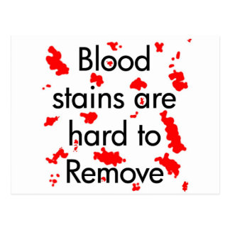 Manchas de sangre tarjetas postales