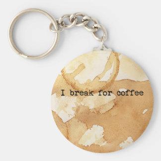 Manchas del café llaveros