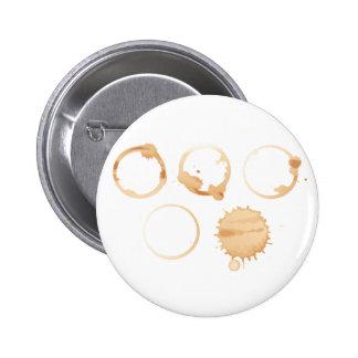 Manchas del café pin redondo 5 cm
