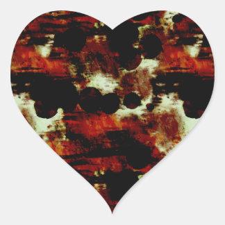Manchas en rojo y negro colcomanias corazon personalizadas