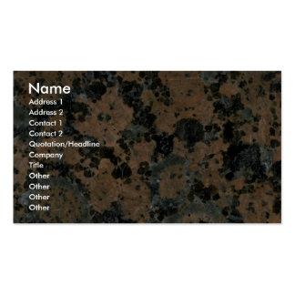 Manchas pintadas roca sólido tarjetas de visita