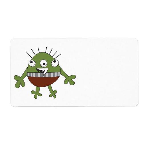 manche al monstruo verde torpe etiquetas de envío