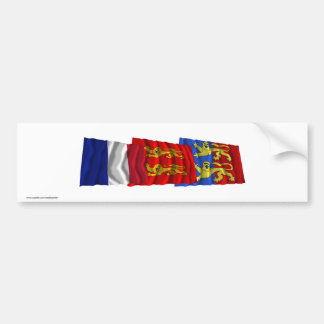 Manche, Basse-Normandie & France flags Bumper Sticker