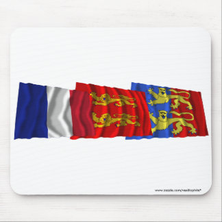 Manche, Basse-Normandie & France flags Mouse Pad