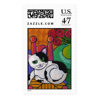 Manche el gato sello postal