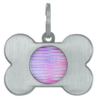 Manche la impresión colorida rayada el extracto de placas mascota