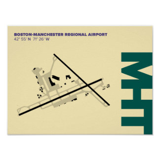 Manchester Airport (MHT) Diagram Poster