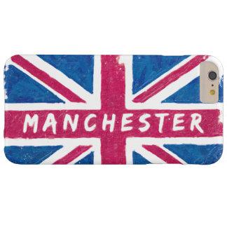 Manchester - bandera británica de Union Jack del Funda Para iPhone 6 Plus Barely There