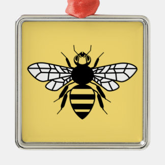 Manchester Bee Metal Ornament