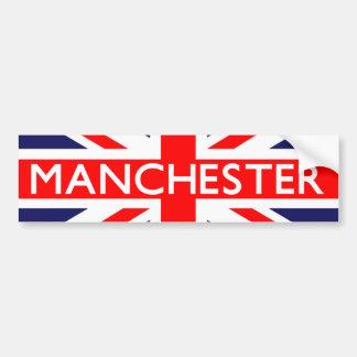 Manchester : British Flag Car Bumper Sticker
