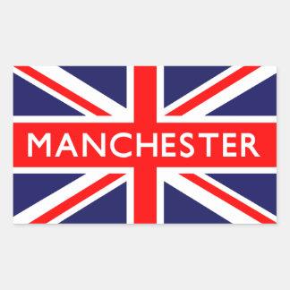 Manchester : British Flag Rectangular Sticker