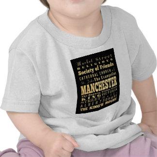 Manchester City of United Kingdom Typography Art T Shirts