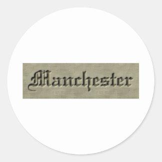 Manchester Co. Pegatina Redonda